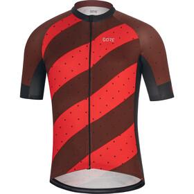GORE WEAR C3 Koszulka kolarska, krótki rękaw Mężczyźni czerwony/czarny